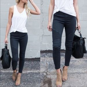 Pants - Black Moto Jeggings