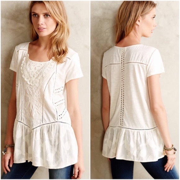 6fc7f641767d Anthropologie Tops | Meadow Rue Pintucked Peasant Top Size Medium ...