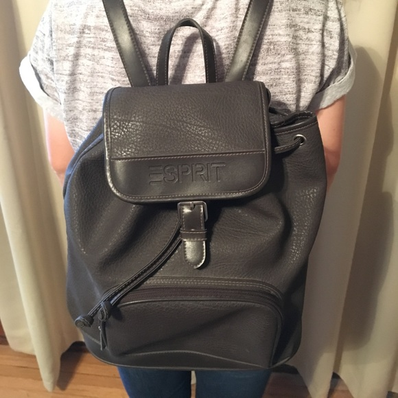 0435fbc556f8 Esprit Bags | 90s Faux Leather Backpack | Poshmark