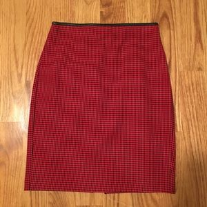 Express Houndstooth Pencil Skirt w/ Faux Leather