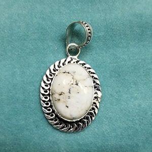 Jewelry - nwt 925 silver granite pendant handmade