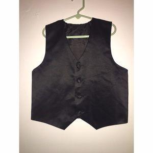 Other - Boys Black Vest Sz 10