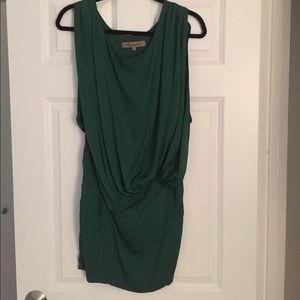 Foley & Corinna green cocktail dress