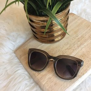 Gold Rimmed Opaque Sunglasses