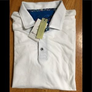Other - New Men's Robert Graham Lighter White Polo Sz L