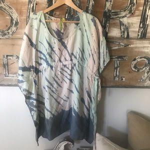 Green Dragon 100% silk tunic top