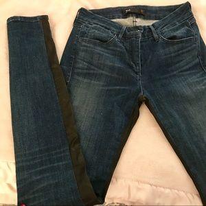 3X1 Coated Inseam Skinny Jeans