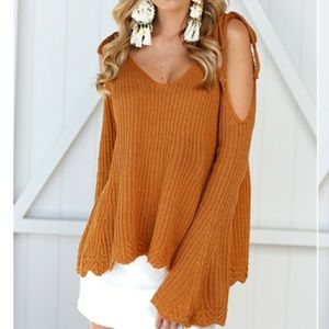The SHEILA Cold Shoulder Sweater