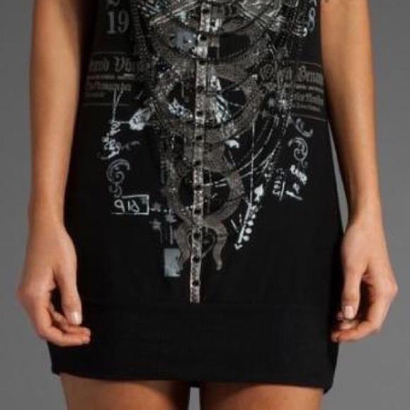 Salvage Dresses - SALVAGE Adjustable Spaghetti Strap Tunic / Dress S