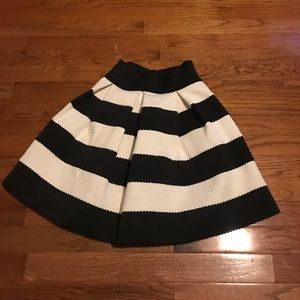 Structured black and white skirt from target!