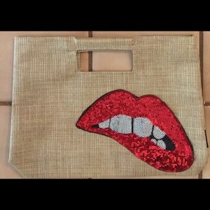 Handbags - Tote/ lap top carryall with RHPS lips