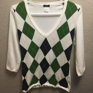 J. Crew XS argyle sweater.