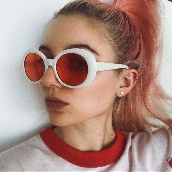 c5247a61da RESTOCK • red and white cobain clout sunnies •