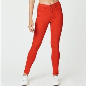Red Carmar skinny jeans 26 jeggings
