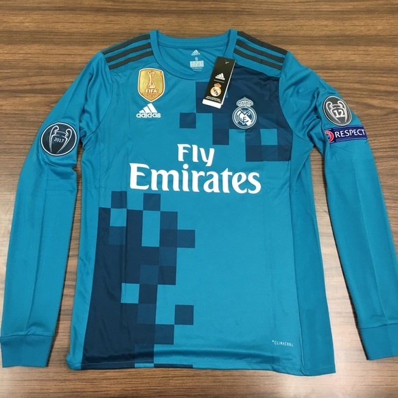 watch 65674 0465a Real Madrid Ronaldo Third long sleeve jersey 2017 NWT