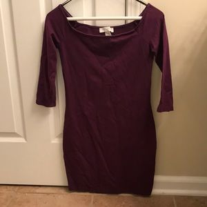 Plum colored Forever 21 sheath dress. (Size S)