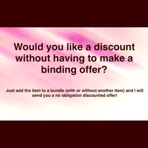 Other - Want a discounted offer?
