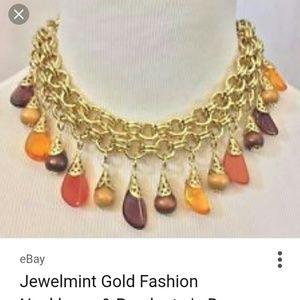 Jewelmint autumn color drop necklace