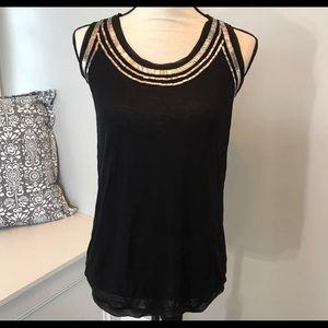 Diane Von Furstenberg Silk Sequin Blouse Sz S