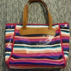 Handbags - Fossil Key-per multi color handbag.