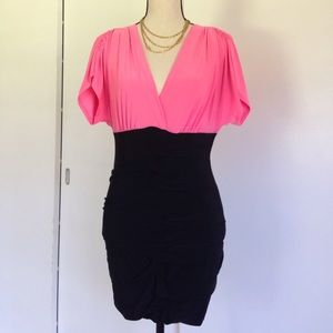 Dresses & Skirts - 👗 Charlotte Russe Pink & Black Dress
