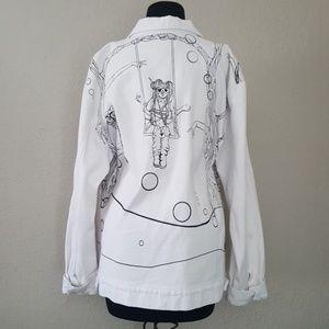 efb425c19b5 Lady Gaga Jackets & Coats | Art Rave Jean Jacket | Poshmark