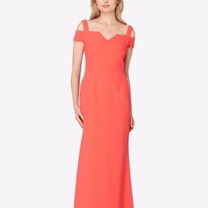 Tahari ASL Cold Shoulder Smooth Crepe Gown