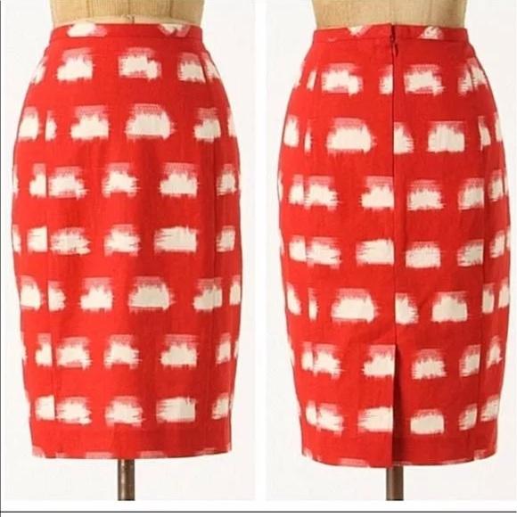 31a6c6ce3e Anthropologie Dresses & Skirts - Anthropologie skirt 0 XS Corey Lynn Calter  Red LN