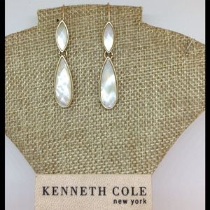 Kenneth Cole Facetted Drop Earrings