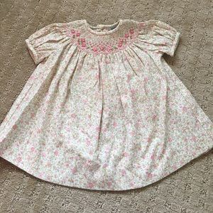 Luli & Me Smocked Floral Baby Dress - size 3M