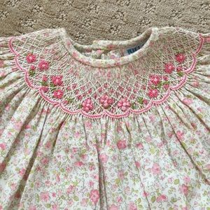 Luli & Me Dresses - Luli & Me Smocked Floral Baby Dress - size 3M