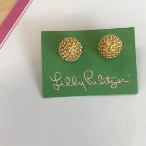 NEW Lilly Pulitzer Gold stud earrings!
