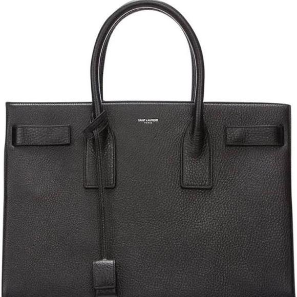 5dea965eecd Yves Saint Laurent Bags | Ysl Sac De Jour Large Black Leather ...