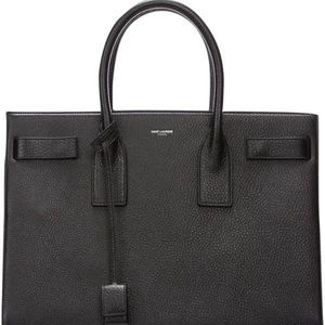 e6786c07627 Yves Saint Laurent Bags - YSL Sac De Jour Large Black Leather Handbag