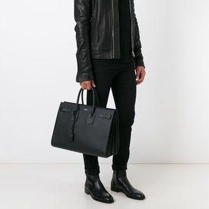 3008324a3dc Yves Saint Laurent Bags - YSL Sac De Jour Large Black Leather Handbag