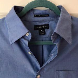 Blue Lands' End Men's Dress Shirt