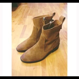 Zara- leather booties- brand new with tags
