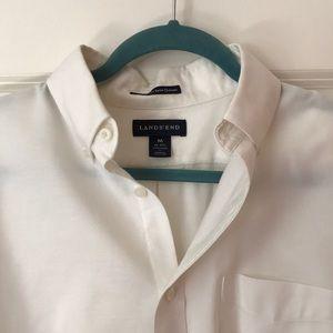 White Lands' End Men's Dress Shirt