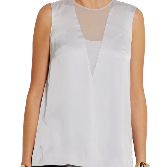 DKNY Silk-Blend Sleeveless Top Cheap Sale Huge Surprise Outlet Authentic Clearance Low Price Free Shipping Low Price Fee Shipping Discount Lowest Price rnhnofs7R