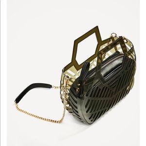 Zara- mini vinyl tote- brand new