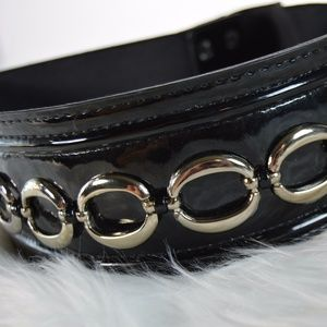 White House Black Market Accessories - WHBM Wide Patent Leather Belt