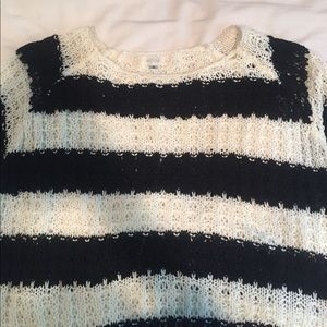 LF Millau black and cream stripe knit sweater