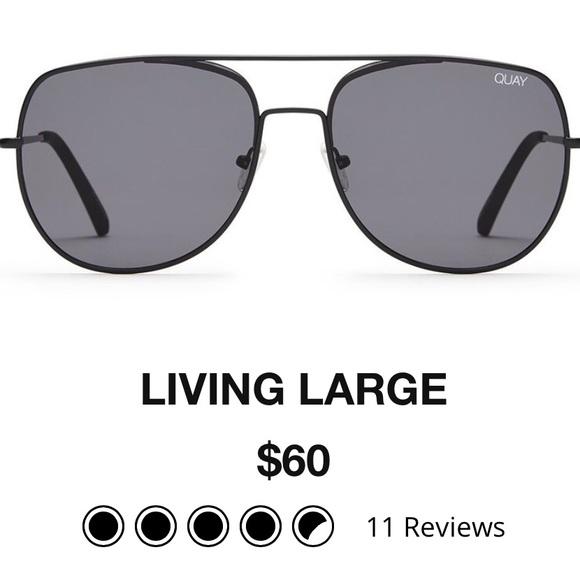 3692e22df63 Quay Living Large Black Aviator Frames. M 59a9af634225be9ae8006031