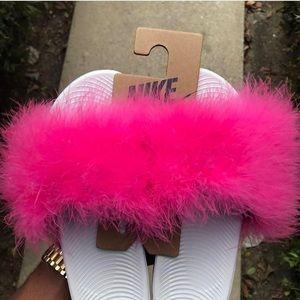 c1e4fb97d13 Women s Furry Nike Slides on Poshmark