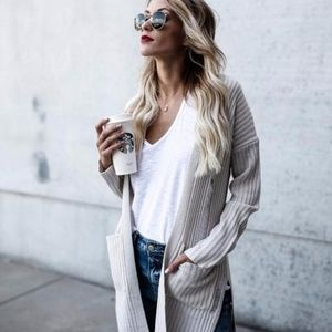 Distressed Pocketed Cardigan