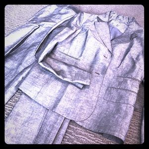Like new gray linen/chambray suit