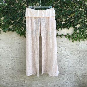 Kenneth cole swimwear crochet beach cover-up pants