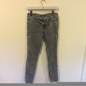 J Brand gray washed skinny jeans