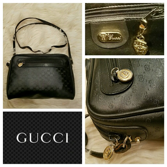 fd05a51ee9a6 Gucci Bags | Authentic Vintage 80s Gg Logo Crossbody Bag | Poshmark