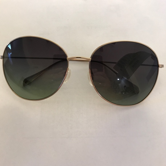 Oliver Nwt Gold Blondell Round Sunglasses In Peoples mNwO0v8n